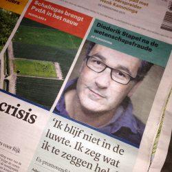 Foto voorpagina Trouw genomen door Asha ten Broeke
